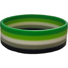 Aromantic Pride Silicon Rubber Wristband