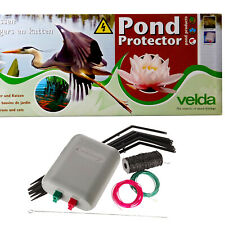 VELDA GARDEN POND PROTECTOR ELECTRIC FENCE KIT STOPS HERONS CATS BIRDS FISH KOI