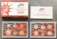 USA 2005 SILBER Proof Set San Francisco PP polierte Platte State Quarter 1c-$1