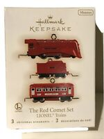 Hallmark Ornament Miniature 2009 The Red Comet Set Lionel Trains 3 Pcs NIB
