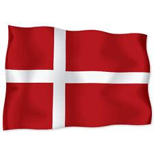 "DENMARK Danish Flag car bumper sticker decal 6"" x 4"""