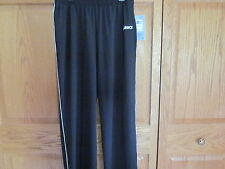 Asics Jr XL Alana Black w White Piping Elastic Waist Active Pants NWT Very Nice!