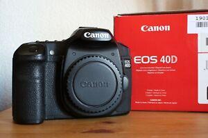 Canon EOS 40D + scatola e accessori - otturatore nuovo - ottime condizioni