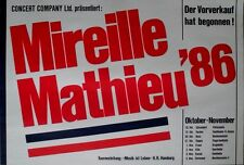 MATHIEU, MIREILLE - 1986 - Tourplakat - Concert - In Liebe - Tourposter