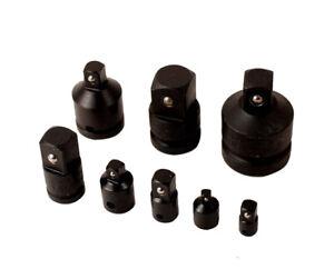 """8pc Cr-V Impact Socket Adapter Adaptor Converter Reducer: 1/4""""-3/8""""-1/2""""-3/4""""-1"""""""