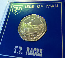 2007 Isle of Man Tourist Trophy Motorcycle Race TT Races 50p Coin Gift Display