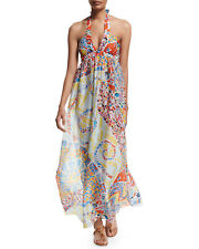 fb4bbe91f3a ICONIC CHIC recent Emilio Pucci Signature ABSTRACT mosaic print silk MAXI  dress