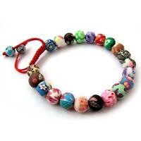 8mm Polymer Clay Flower Tibet Buddhist Prayer Beads Mala Bracelet
