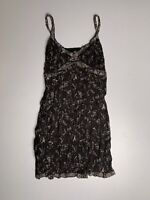 JOE BROWNS • Black & Grey Strappy Floral Lined Dress • Size 12