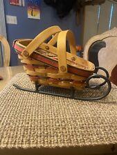 Longaberger Basket with Wrought Iron Runner