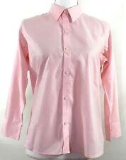LIZ CLAIBORNE womens button shirt PETITE SIZE 8 pink 3/4 sleeves cotton (H592)