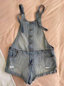 Ladies Size 12 Ghanda Denim Overalls GUC