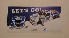 2014 TAYLOR MALSAM OUTERWALL #32 NASCAR TRUCK POSTCARD