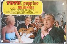 TOTò PEPPINO E LA MALAFEMMINA Fotobusta Poster NAPOLI DE FILIPPO CULT ITALIAN M