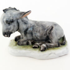 """Donkey Sitting Grey by Herend 4.25"""" tall #5275 New Never Sold Made in Hungary"""