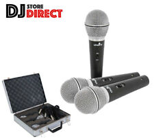 CHORD DM03X Set of 3 Dynamic Microphones Mics+ Carry Case + FREE 3X 5M XLR Leads
