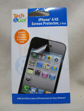 Tech & Go iPhone 4/4s FREE SCREEN PROTECTORS (2 Pack) NEW