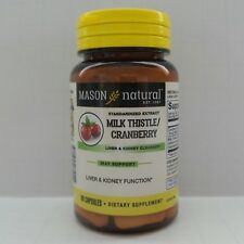 60 Capsules  MILK THISTLE / CRANBERRY LIVER & KIDNEY SUPPORT CLEANSER