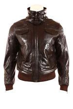 Men's Leather Hip Length Bomber, Harrington Coats & Jackets