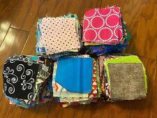 Huge Lot Of Quilting Fabric Squares 4� Cotton Prints Solids Batik Sewing Quilt