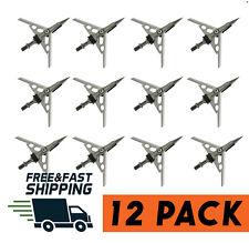 12 PC Archery Hypodermic Broadheads with 24 Shock Collar 100 Grain 2