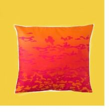 """IKEA Giltig Pillow Cover Bright Orange Hot Pink 26""""Cushion Katie Eary Limited Ed"""
