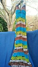 DEREON Beyonce & Tina Knowles Vivid Tribal Stripe Maxi Dress Womens Sz S ❤️ts17j
