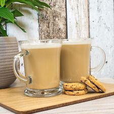 Set of 2 Ravenhead Clear Glass Latte Mugs Tea Coffee Cappuccino Hot Drinks Cups
