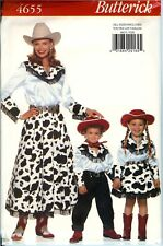 Butterick 4655 Cowgirl Cowboy Country Costume Sewing Pattern Square Dance UNCUT