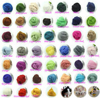 NEEDLEFELTING WOOL CORRIEDALE TOP ROVING DYED SPINNING WET FELTING FIBER DIY yj