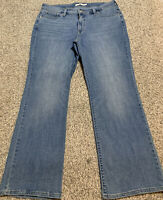 Women's LEVI'S 415 CLASSIC BOOT STRETCH JEANS Size 16W Actual 36X29 Rise 10.5