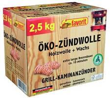 *2,5 Kilo Favorit Zündwolle Grillanzünder, Kaminanzünder, Ofenanzünder Öko / Bio