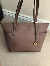 Genuine Michael Kors Saffiano Leather Jet Set Medium/Large Zip Tote Shoulder Bag