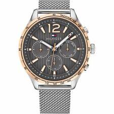 New Tommy Hilfiger Men's Gavin Chronograph Silver Watch 1791466