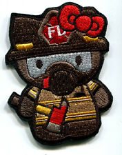 HELLO KITTY FIRE FIGHTER FIREMAN EMBROIDERED IRON ON PATCH FREE SHIPPING