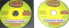 2 PC LOT BRAIN PLAY CD ROM PRESCHOOL-1ST GRADE EARLY READING I SPY JUNIOR! #81B