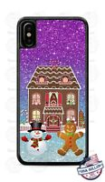 Christmas Gingerbread House Snowman Design Phone Case Cover for iPhone LG etc