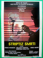 BODY DOUBLE-MELANIE GRIFITH/BRIAN DE PALMA-ORIGINAL YUGOSLAV MOVIE POSTER 1984