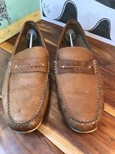 Clarks Brown Leather Driving Mocs Men's 13M #61822