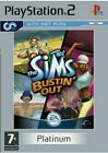 The Sims Bustin' Out With Manual (Platinum) (PS2) Simulator, SEALED RPK*