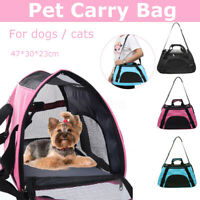 Pet Dog Cat Rabbit Portable Travel Carrier Tote Cage Bag Mesh Crate Kennel Pack