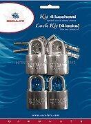 Stainless Steel Marine Padlocks Set of 4 Shackle Padlock Lock Keyed Alike  PAD1