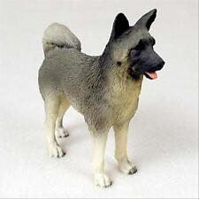 Akita Gray Dog Hand Painted Collectable Figurine Statue