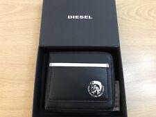 Diesel Zippy Hiresh S Cuir Fermeture Éclair Autour De Portefeuille en cuir avec logo-pour femme Noir Bnwt