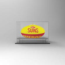 Football AFL Acrylic Perspex Display Case - Gold Coast Suns Football Display