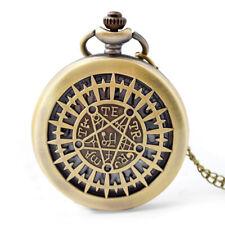 Kuroshitsuji Quartz Pocket Watch Anime Black Butler Pentagram Collectible Gifts