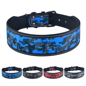 Reflective Dog Collars Small Medium Large Military Camo Boy Male Dog Collar 5cm