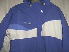 ladies COLUMBIA Sportswear light wt Winter JACKET blue w/white sz L Large ski