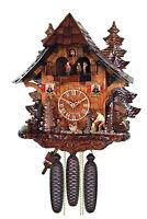 cuckoo clock black forest 8 day original german wood chopper wood music new