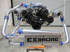 CXR FMIC Twin Turbo Intercooler Kit For 79-93 Fox Body Ford Mustang V8 5.0 GT35